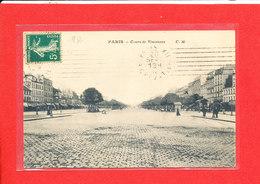 75 PARIS XII Eme Cpa Animée Cours De Vincennes   Edit C M - Arrondissement: 12