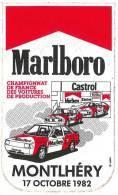 Championnat De France Des Voitures De Production - Marlboro - Castrol - Total - Montlhéry - 17 Octobre 1982 - Autocollants