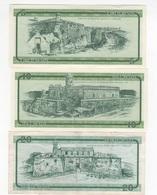 B35 - CUBA 3 Certificats De Devises 5-10-20 Pesos 1er Choix Série B - Cuba