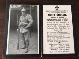Sterbebild Wk1 Ww1 Bidprentje Avis Décès Deathcard RIR2 CERNY EN LAONNOIS 12. November 1916 Aus Vorrach - 1914-18