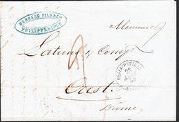 LETTRE Pré-Philatélie De PHILIPPEVILLE (département Français D'Algerie) Du 22 Janv 1860 (Marneau Fils Et Cie) - France