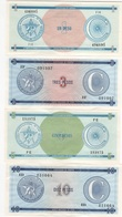 B37 - CUBA 4 Certificats De Devises 1-3-5-10 Pesos 1er Choix Série C - Cuba