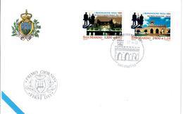 SAN MARINO 2001 - EMIGRAZIONI NEGLI USA - FDC - FDC