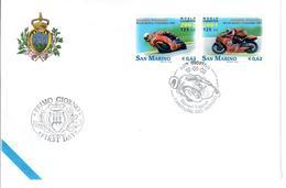 SAN MARINO 2002 - MOTOMONDIALE 2001 - FDC - FDC