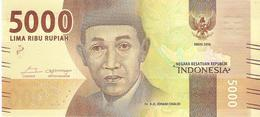 Indonesia - Pick 156 - 5000 Rupiah 2016 - Unc - Indonésie