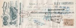 Lettre Change Illustrée 27/12/1921 BENIER ARCHINARD Confiserie Chocolat LYON - Mérand Bourges - Lettres De Change