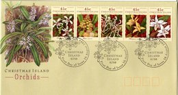FDC  CHRISTMAS  ISLAND,    Orchid   /    L'orchidée, Lettre De Première Jour,   1994 - Orchideen