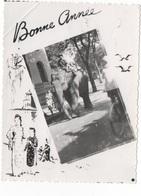 BONNE ANNEE - PTE CARTE PHOTO (VIET-NAM ?) CRANTEE N/B - VOYAGEE EN 1950 - New Year