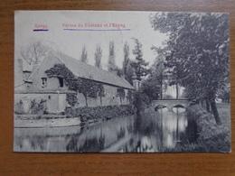 Rongy, Ferme Du Chateau Et L'étang --> écrit 1909 - Brunehaut
