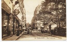 10559 -   TOULOUSE :  -   RUE  LAFAYETTE Animée  -  HOTEL  CHAUMOND  ( Disparu ??)  Circulée En 1923 - Toulouse