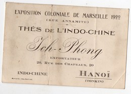 Hanoï (Tonkin)  Carte THE DE L'INDOCHINE  Ich-Phong   (EXPO COLONIALE MARSEILLE 1922) (PPP16981) - Advertising