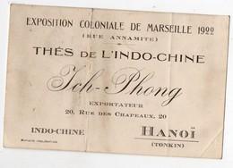 Hanoï (Tonkin)  Carte THE DE L'INDOCHINE  Ich-Phong   (EXPO COLONIALE MARSEILLE 1922) (PPP16981) - Publicités