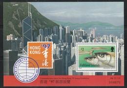 """FALKLAND - BLOC N°15 ** (1997) Poissons - """"Hong Kong 97"""" - Falkland"""