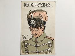AK CP Les Kamerades 1 Hussard De La Mort Totenkopf Hussar Herbst 1915 Husaren Husar Huzaar - War 1914-18