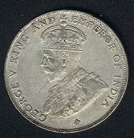 Straits Settlements, 50 Cents 1921, Silber, AXF - Malaysie