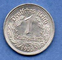 Allemagne  - 1 Reichsmark 1933 A   - Km # 78  -  état  SUP  - Petits Coups Tranche - [ 4] 1933-1945 : Third Reich