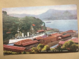 JAPAN - Nagasaki - A Japanese Warship In Dock - 1904 - Tucks Oilette - Japon