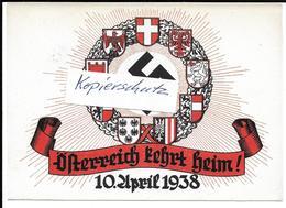 Propaganda, Hitler, Nazi, Drittes Reich, Heimkehr Österreich, Hakenkreuz, Swastika, Propagandakarte - Guerre 1939-45