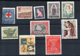 Yugoslavia - 1933/60 - Obligatory Tax Stamps (10 Different) - Used - 1931-1941 Royaume De Yougoslavie