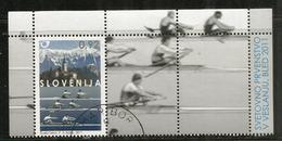 Championnat Du Monde D'Aviron,lac De Bled, Slovénie. Un Bloc-feuillet Oblitéré Slovénie Annèe 2011. 1 ère Qualité - Rowing