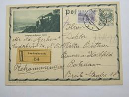 1934 , Einschreiben Ganzsache  Aus Vorderbrack - Briefe U. Dokumente
