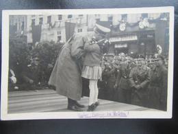 Postkarte Hitler In Brünn Mit Henlein Und SS - Privatfoto 1938 - RR - Germany