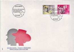 Switzerland Stamps On FDC - Jobs