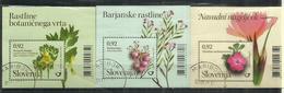 Fleurs De Slovénie: Bog-rosemary,œillet,Scopolia. 3 Blocs-feuillets Oblitérés 1 ère Qualité, Années 2010-11-12 - Slovénie
