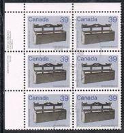 Canada SG1062 1985 Definitive 39c Marginal Block Of 6 Fine Used [10/31/4D] - 1952-.... Reign Of Elizabeth II