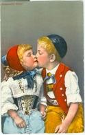 Appenzeller Kinder 1954; Trachten - Gelaufen. (Photoglob-Wehrli, Zürich) - AI Appenzell Rhodes-Intérieures