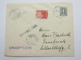 1925 , Flugpostbrief  Wien - Innsbruck - Briefe U. Dokumente