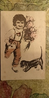 Old Russian Postcard. Dachshund - Dachshound - Teckel - Dackel - Bassotto  1930s - Dogs