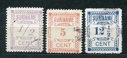 Surinam Nr.70, 72 + 73         O  Used       (048) - Surinam ... - 1975