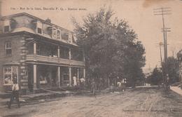 Danville Québec Canada - Rue De La Gare - By Pinsonneault - Written In 1906 (?) - 2 Scans - Quebec