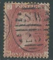1858-79 GREAT BRITAIN USED SG 43 1d PLATE 108 (JM) - F18-4 - Gebruikt