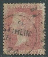 1858-79 GREAT BRITAIN USED SG 43 1d PLATE 145 (AM) - F18-8 - Gebruikt