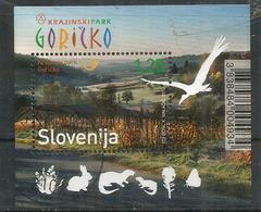 Goričko Natural Park,Flora And Fauna. Bloc-feuillet Neuf Oblitéré Haute Faciale, 1 ère Qualité, Année 2012 - Slovénie
