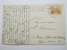 1931 ,  BAD FUSCH  , Klarer Stempel  Auf Karte - Briefe U. Dokumente