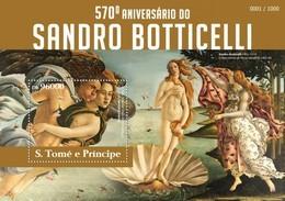 SAO TOME E PRINCIPE 2015 SHEET SANDRO BOTTICELLI ART PAINTINGS ARTE PINTURAS St15314b - Sao Tomé Y Príncipe