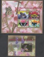 BHUTAN , 2014, MNH, BUTTERFLIES, SHEETLET+ S/SHEET - Papillons