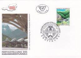 Austria FDC 1991 Karawankentunnels  (G92-14) - Cars