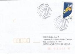 France FDC 2002 Salt Lake City Olympic Games - Albertville (G92-11) - Winter 2002: Salt Lake City