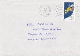 France Cover 2002 Salt Lake City Olympic Games - Posted Cagnes Sur Mer 2002 (G92-11) - Winter 2002: Salt Lake City