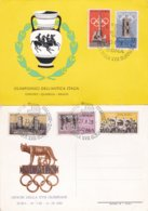 Italy Card With Two Postcards 1960 Rome Olympic Games And Salute To The Antic Games In Italy (G92-11) - Sommer 1960: Rom