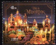 MEXICO, 2018, MNH, CELEBRATIONS, DIA DE MUERTOS, DAY OF THE DEAD, CHURCHES, 1v - Celebrations