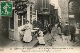 """LE MONT SAINT MICHEL - """" Terrasse Vve Poulard """" - Le Mont Saint Michel"""