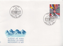 Switzerland Stamp On FDC, Joint Issue With Austria - Joint Issues
