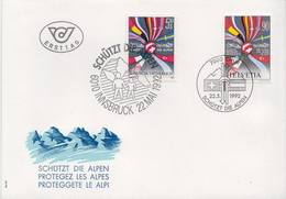 Switzerland / Austria Stamps On FDC, Joint Issues - Joint Issues