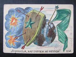 AK ESPERANTO Handgemalt !! 1938 ///  D*36442 - Esperanto