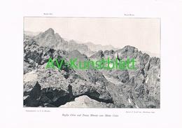 065 A Korsika Corse Paglia Orba Monte Cinto Kunstblatt 1901!! - Sonstige